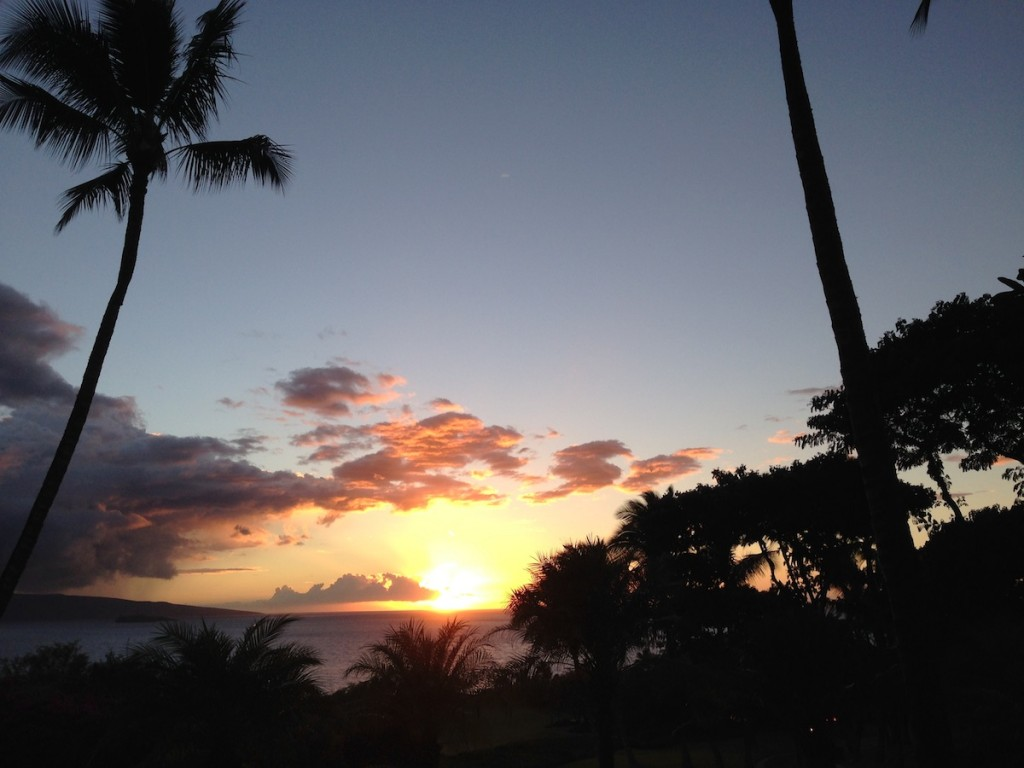 Maui - Sunset - Hawaii - Paradies - USA - Wailea - Paia - Kihei - Big Beach -Wailea Golf
