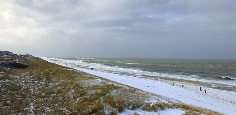 Sylt im Winter - Strand Wenningstedt
