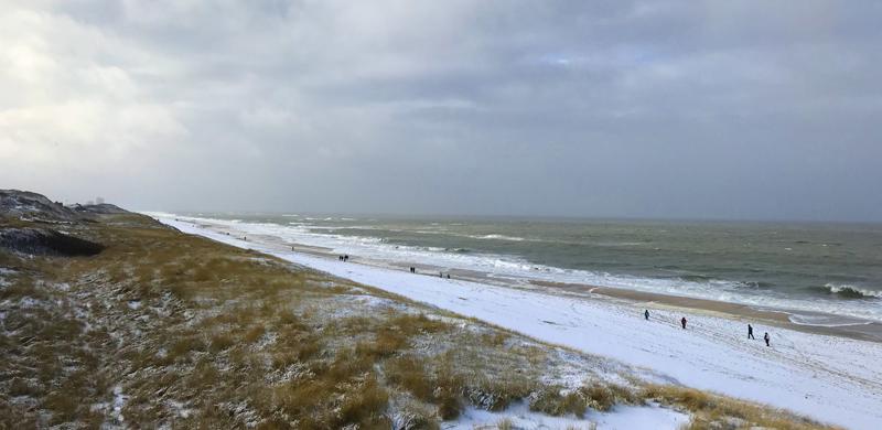 Sylt im Winter - Strand Wenningstedt